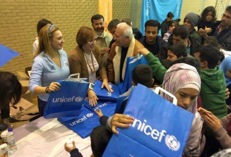 UNICEF Greece, multeci cocuklar icin eglence gunu duzenledi