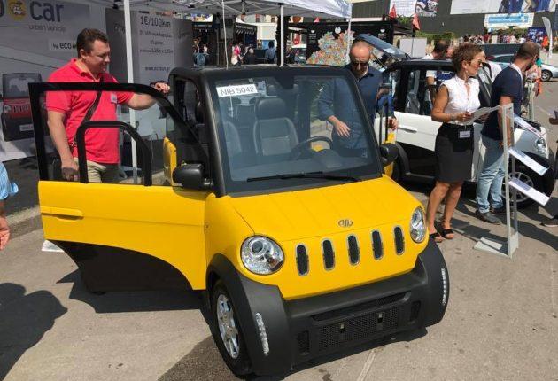 Ecocar'ın sarı, mavi ve beyaz renk seçenekleri bulunuyor